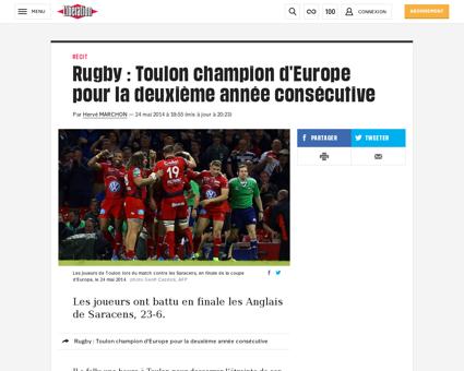 Rugby victoire de toulon en finale de la Bryan
