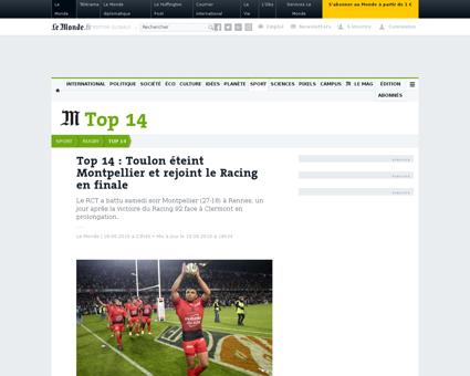 Rugby top 14 habana blesse avec les spri Bryan