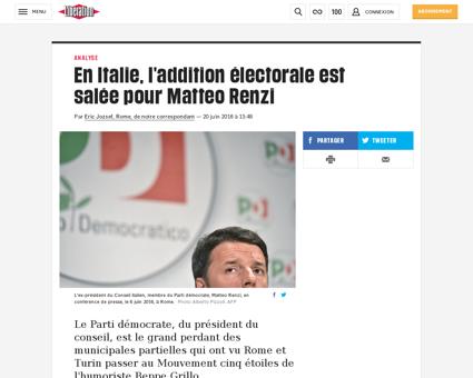 En italie l addition electorale est sale Chiara