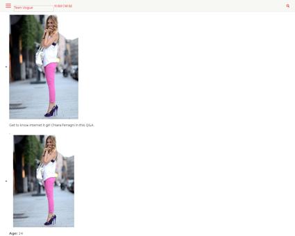The blonde salad blogger profile Chiara