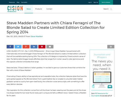 Steve madden partners with chiara ferrag Chiara