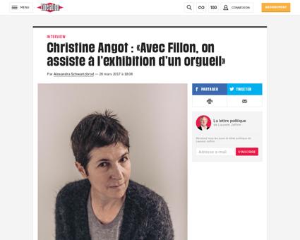 Christine angot avec fillon on assiste a Christine