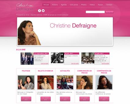 christinedefraigne.be Christine