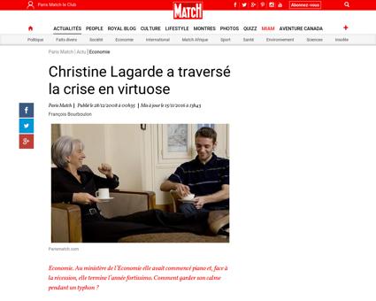 Christine Lagarde a traverse la crise en Christine