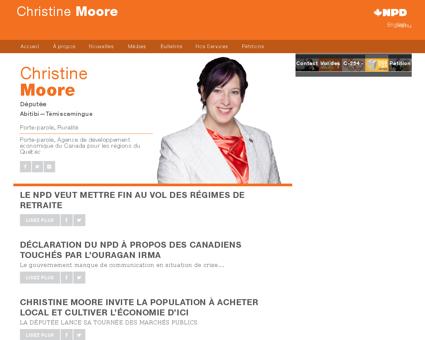 Christinemoore.npd.ca Christine