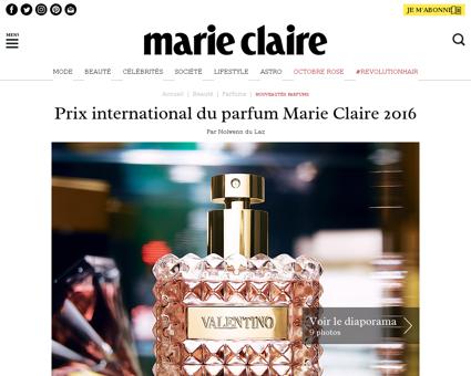 ,prix international du parfum marie clai Christine