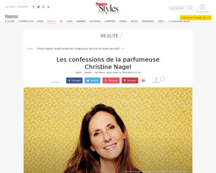 Les confessions de la parfumeuse christi Christine