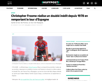 Christopher froome realise un double ine Christopher