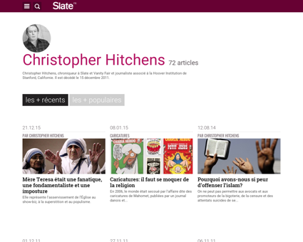 Christopher hitchens Christopher