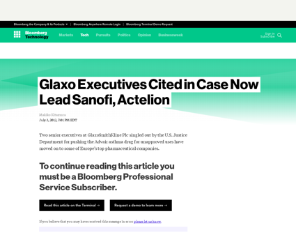 Glaxo executives cited in case now lead  Christopher