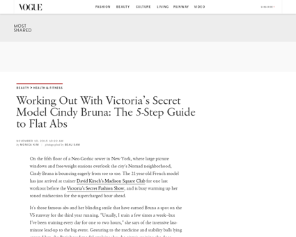 Victorias secret ab workout cindy bruna Cindy