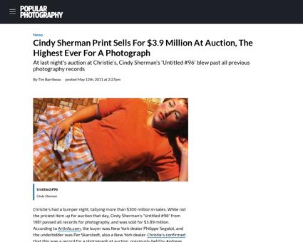 Article cindy sherman Cindy