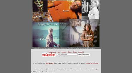 cindysherman.com Cindy