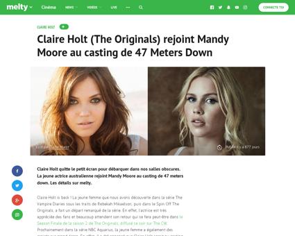 Former Originals star Claire Holt announ Claire