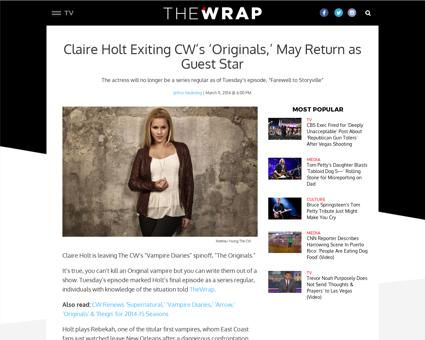 Cw originals claire holt leaving show Claire