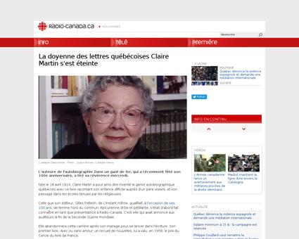 007 deces claire martin auteure.shtml Claire