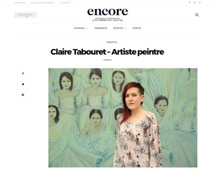 Claire tabouret artiste peintre Claire