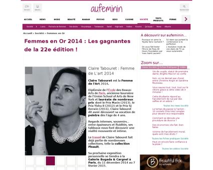 Femmes en or 2014 d59712c666573 Claire