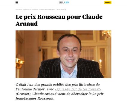 Le prix rousseau pour claude arnaud Claude