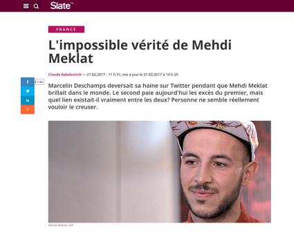 Mehdi meklat puni poesie immondice Claude