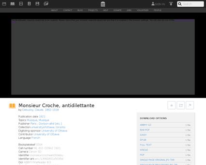 Monsieurcrochean00debu Claude