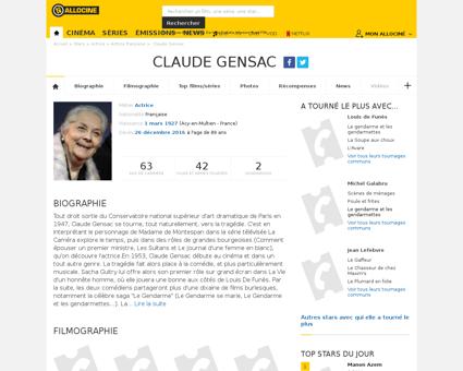 Fichepersonne gen cpersonne=31405 Claude