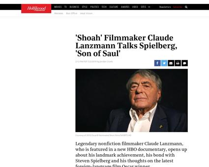 Shoah filmmaker claude lanzmann talks 86 Claude