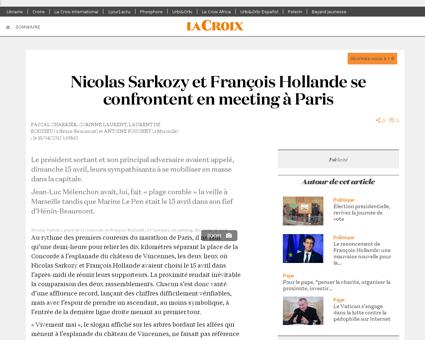 Nicolas Sarkozy et Francois Hollande se  Claude