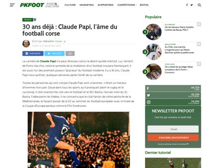 30 ans deja claude papi lame du football Claude