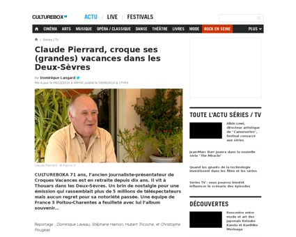 Television claude pierrard croque ses gr Claude