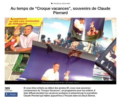 Au temps de croque vacances souvenirs de Claude