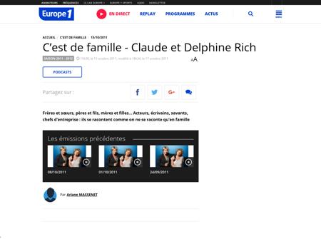 C est de famille Claude et Delphine Rich Claude