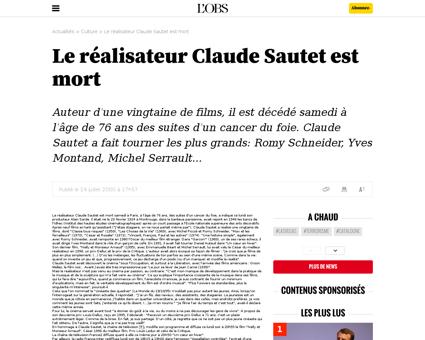 Retour sur l oeuvre de claude sautet Claude