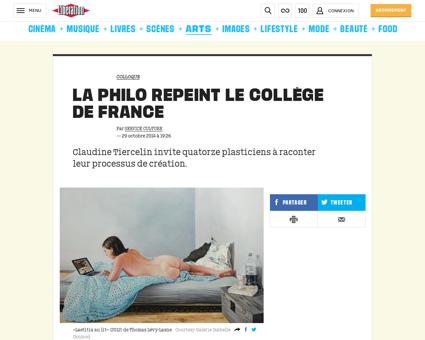 La philo repeint le college de france 11 Claudine