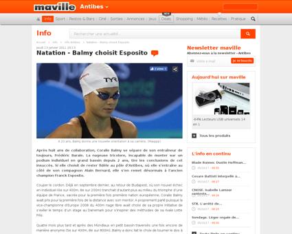 Actudet  Actualit%C3%A9 natation balmy c Coralie