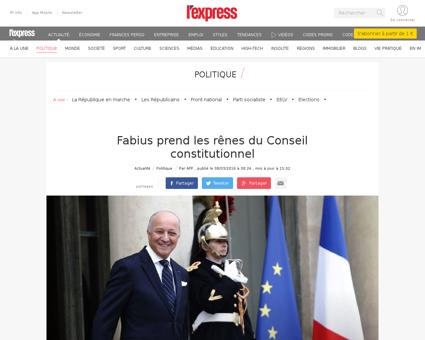 Conseil constitutionnel laurent fabius p Corinne