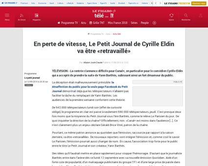 En perte de vitesse le petit journal de  Cyrille