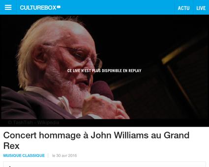 Concert hommage a john williams au grand Damien