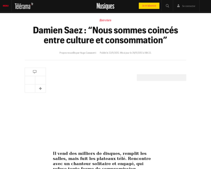 Damien saez nous sommes coinces entre cu Damien