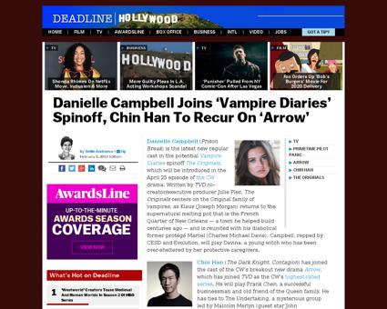 Danielle campbell joins vampire diaries  Danielle