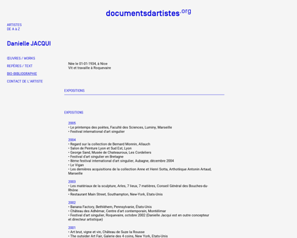 Affiche art web.cgi?&ACT=1&SEL=bio&ID=13 Danielle