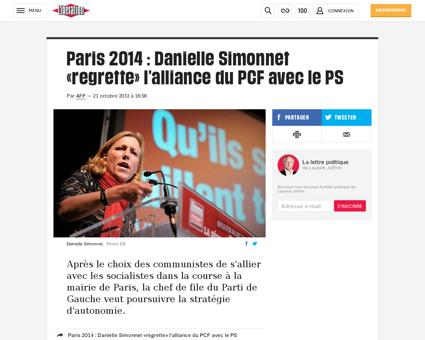 Paris 2014 danielle simonnet regrette l  Danielle
