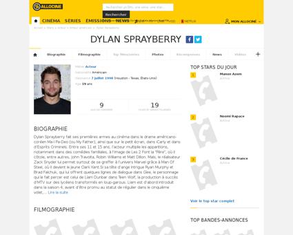 Fichepersonne gen cpersonne=412629 Dylan