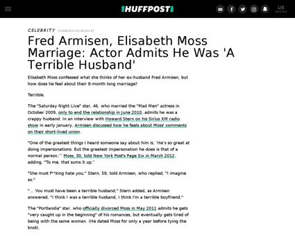 Fred armisen elisabeth moss marriage n 2 Elisabeth