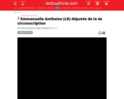 Emmanuelle anthoine (lr) deputee de la 4 Emmanuelle