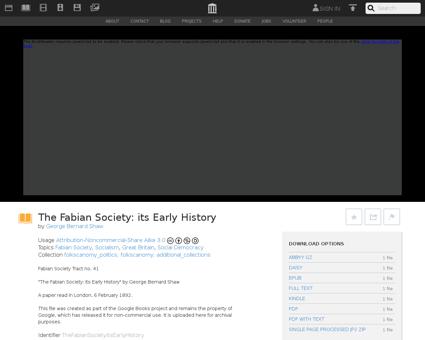 TheFabianSocietyItsEarlyHistory Fabian