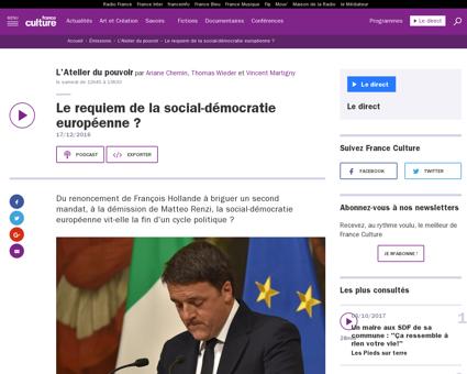Le requiem de la social democratie europ Fabien