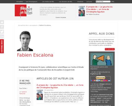 Fabien Escalona  Fabien