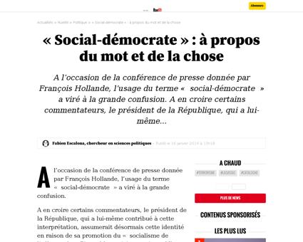 Social democrate a propos mot chose 2490 Fabien