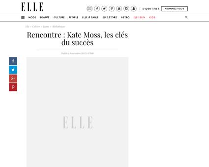 Rencontre Kate Moss les cles du succes 2 Fabien